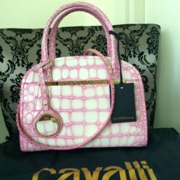 1bb75da1e0768 Roberto Cavalli Bags   Class Handbag Jennifer Pink Nwt   Poshmark